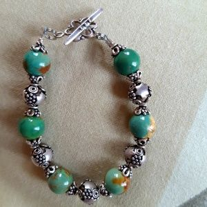 Jewelry - Genuine turquoise and Sterling bracelet